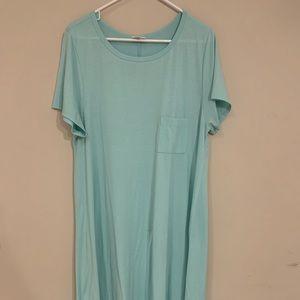 LuLaRoe Mint Carly T-Shirt Dress
